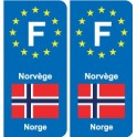 F Europe Norway Norway sticker plate
