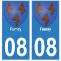 08 Fumay autocollant plaque ville département