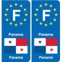 F Europe Panama autocollant plaque