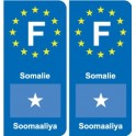 F Europe Somalia Somalia sticker plate