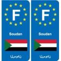 F Europe Sudan Sudan sticker plate