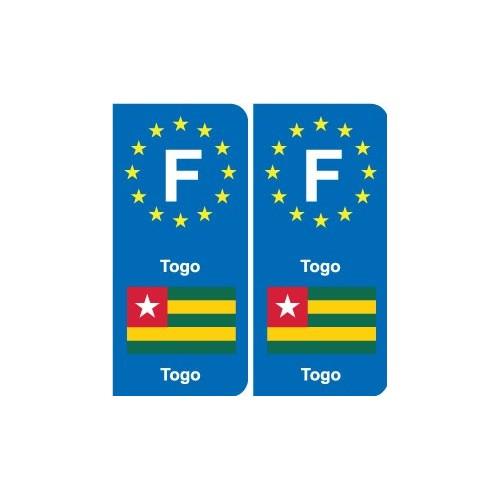 F Europe Togo autocollant plaque