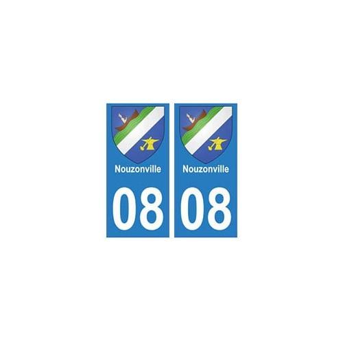 08 Nouzonville autocollant plaque ville département