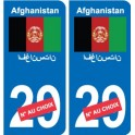 Afghanistan افغانستان sticker numéro département au choix autocollant plaque immatriculation auto
