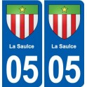 05 La Saulce blason ville autocollant plaque stickers