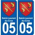 05 Saint-Laurent-du-Cros coat of arms, city sticker, plate sticker
