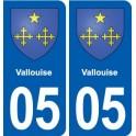 05 Risoul logo ville autocollant plaque stickers