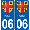 06 Falicon logo ville autocollant plaque stickers