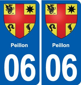04 Peyruis blason ville autocollant plaque stickers droits