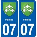 07, Cat coat of arms, city sticker, plate sticker