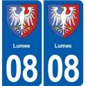 08 Lumes logo city sticker, plate sticker