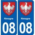08 Rimogne coat of arms, city sticker, plate sticker