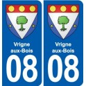 08 Renwez logo ville autocollant plaque stickers