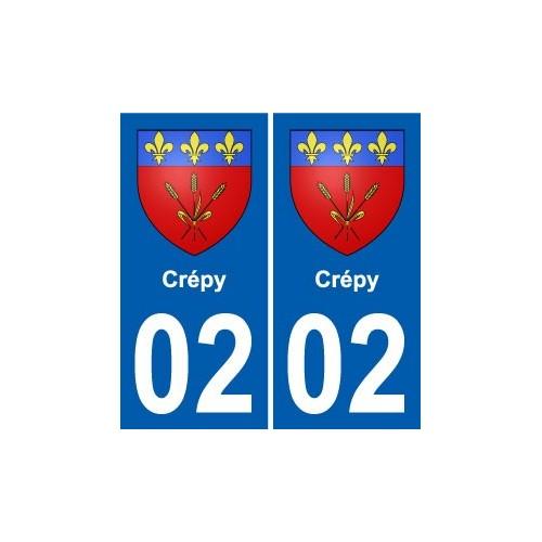 02 Chassemy blason ville autocollant plaque sticker