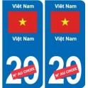 Autocollant Afghanistan افغانستان sticker numéro département au choix plaque immatriculation auto