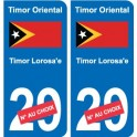 Sticker east Timor Timor-Leste sticker number department choice plate registration auto