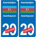Sticker Azerbaijan Azərbaycan sticker number department choice plate registration auto