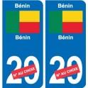 Cameroun Cameroon sticker numéro département au choix autocollant plaque immatriculation auto