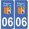 06 Alpes Maritimes autocollant plaque