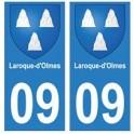09 Laroque-d'Olmes blason ville autocollant plaque