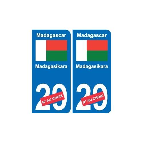 Automobilia 100% Quality 973 Guyane Departement Immatriculation 2 X Autocollants Sticker Auto