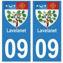 09 Lavelanet blason ville autocollant plaque