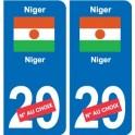 Niger Niger sticker number department choice sticker plaque immatriculation auto