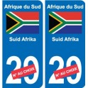 South africa Suid-Afrika sticker number department choice sticker plaque immatriculation auto