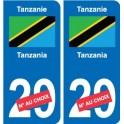 Tanzania Tanzania sticker number department choice sticker plaque immatriculation auto