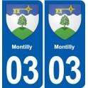 03 Abrest blason ville autocollant plaque stickers