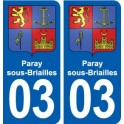 03 Abrest blason ville autocollant plaque stickers