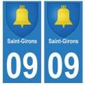 09 Saint-Girons blason ville autocollant plaque