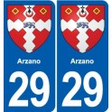 29 Arzano coat of arms sticker plate stickers city