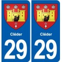 29 Cléder coat of arms sticker plate stickers city