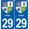 29 Penmarch logo autocollant plaque stickers ville