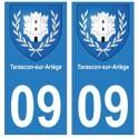 09 Tarascon-sur-Ariège blason ville autocollant plaque