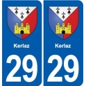 29 Kerlaz coat of arms sticker plate stickers city