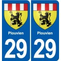 29 Plouvien coat of arms sticker plate stickers city
