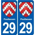 29 Poullaouen coat of arms sticker plate stickers city