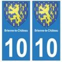 10 Brienne-le-Château autocollant plaque