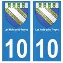 10 Les Noës-près-Troyes autocollant plaque