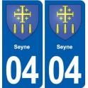 04 Seyne blason ville autocollant plaque stickers