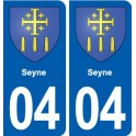 04 Seyne coat of arms, city sticker, plate sticker