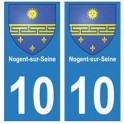 10 Nogent-sur-Seine autocollant plaque