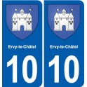 10 Ervy-le-Châtel coat of arms, city sticker, plate sticker