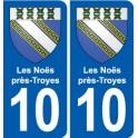 10 Bréviandes blason ville autocollant plaque stickers