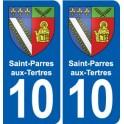 10 Saint-Parres-aux-Tertres blason ville autocollant plaque stickers