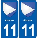 11 again towards the coat of arms city sticker, plate sticker