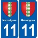 11 Marcorignan coat of arms, city sticker, plate sticker