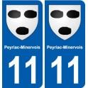 11 Peyriac-Minervois blason ville autocollant plaque stickers